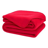 Cobertor Melocotton Merrow Individual Rojo Liso