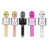 Microfono Inalambrico Karaoke Con Bocina Bluetooth Mp3