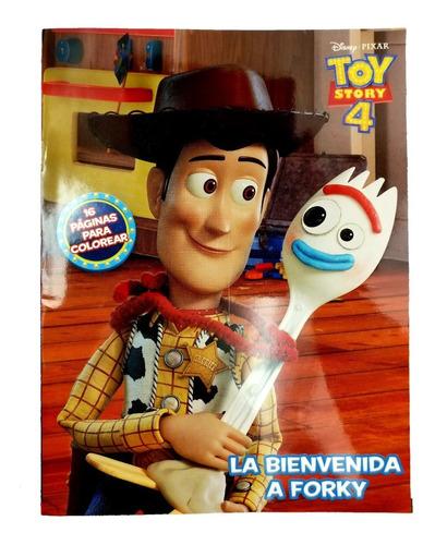 Libro Para Colorear Toy Story 4 Forky Disney 16 Paginas En