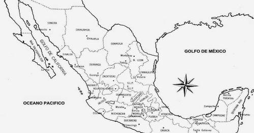 Mapa De Mexico Para Colorear En Hd 1080 Oficio En Venta En
