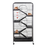 *jaula Grande Negro Conejo,hurón,,erizos,roedores Ardillas*