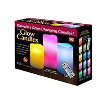Glow Velas - Sin Llama Que Cambian De Color Operado Por Bate