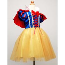 Vestido Blanca Nieves Para Fiesta Infantil O Presentación