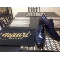 Zapatos Piel De Cocodrilo Mauri100% Hechos A Mano En Italia