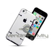 Funda Iphone 5c + Cable Usb 8pin + Mica Protector Bumper Omm