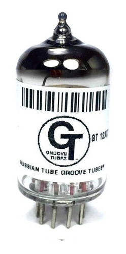 3 Gt-12ax7s Bulbos, Valvulas,  Groove Tubes® Exhibición