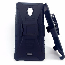 Blade V580 Zte Protector Robot Case C/clip Uso Rudo Anticaid