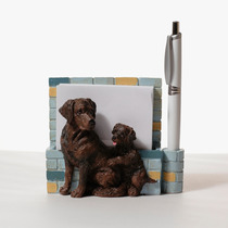 Portanotas Imantado De Ceramica Labrador Chocolate - Hermoso