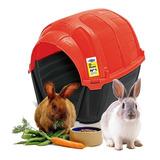 Casa Cama Conejo Plast Pet Stone House No1 Roja Envío Gratis