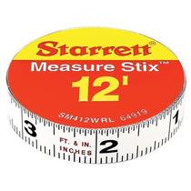 Starrett Medir Stix Sm412wrl Acero Cinta Métrica Blanco Con