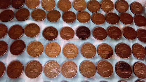 Monedas De 20 Centavos Mexicanos Cobre Lote De 10 Por 100
