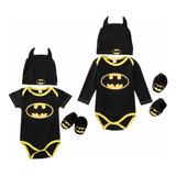 Pañalero Disfraz Batman Niño/bebe ( 3 Piezas ) Env Incluido