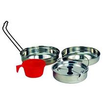 Texsport 5 Pc Kit Lío De Acero Inoxidable Cookware Que Acamp