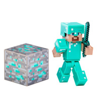 Minecraft Steve With Diamond Armor Figura Coleccionable