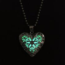 Regalo San Valentin Collar Vintage Corazón Botella Amor