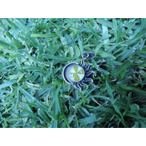 Dije Eclipse Flor Natural Encapsulada Con Trebol