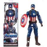 Capitán América Figura Básica 30 Cm Serietitan Héroe Hasbro