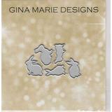 Gina Marie Metal Corte Paper Arte Die - Conejitos Pequeño -