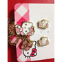 Collar Con Dije Hello Kitty Original Con Piedra Swarovsky