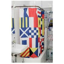 Cortina De Baño De Banderas Nauticas Kikkerland Nueva Decora