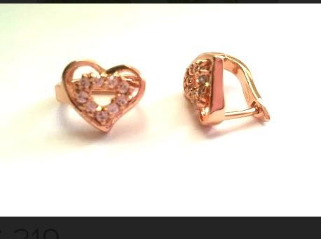 1c208e1f4eb0 Arracadas Corazon Huggies Chapa Oro Rosa 14k Brillantes en venta en ...