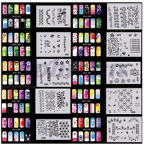 Set De Plantillas Stencils Para Decorar Uñas Con Aerografo