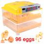 Incubadora 96 Huevos Con Volteador Automatica Led Incubar
