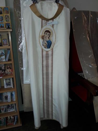 98fed7fea04 Casulla Blanca Con Dorado Para Sacerdote