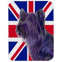 Skye Terrier Con Unión Jack Británica Inglés Cristal De L