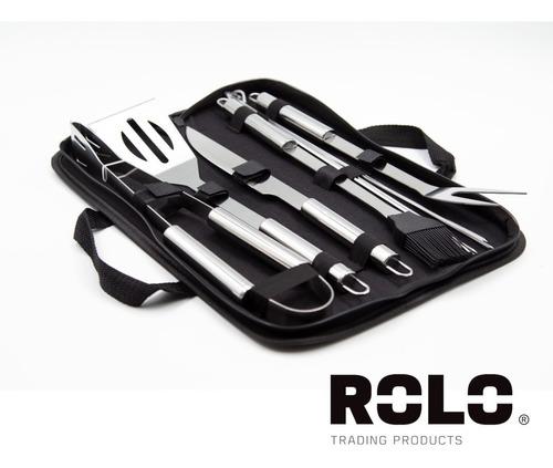 Kit De Asar Con 9 Utensilios De Acero Inox Para Asar Carne
