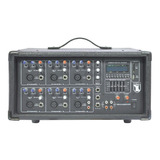 Mezcladora Amplificada 6ch Usb Ecualizador Bluetooth 2306