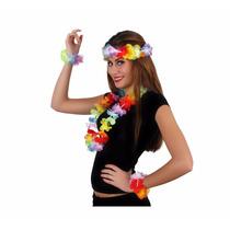 10 Kits Hawaiano Diadema Pulsera Collar Hawaiano Fiestas