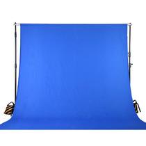 Fondo Azul Chromakey Muselina Fotografia Estudio Video Vv4