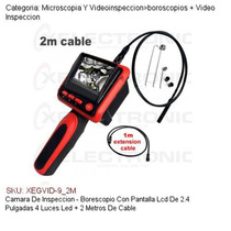 Camara Inspeccion Pantalla Lcd 2.4 Con Luz Propia+2m Cable