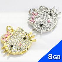 Memoria Usb 8gb Hello Kitty Collar Con Cristal