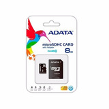 Memoria Adata Micro Sdhc Sd 8gb Clase 4 Ausdh8gcl4-ra1