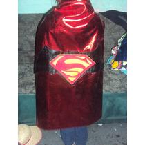 Capa De Superman Para Niño Licra Vinil Aplicaciones