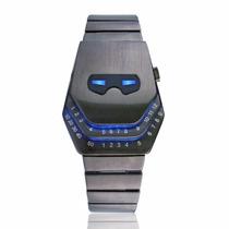 Reloj Led Metalico Iron Man Lujo Digital Binario Moderno Luz