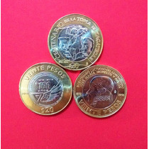 Monedas Colección 20 Pesos,fuerza Aérea, Morelos, Zacatecas