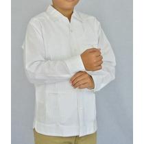 f4509e9c9c Camisa Guayabera Yucateca Casual Lino Niño  cfkprsml1210 en venta en ...