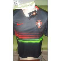Jersey Nike Seleccion Portugal Negra Ronaldo 100%original