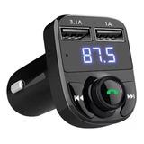 Transmisor Fm Bluetooth Auto Manos Libres Cargador 2 Usb 3.1