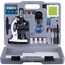 Microscopio 300x 600x 1200x Monocular Con Accesorios Amscope
