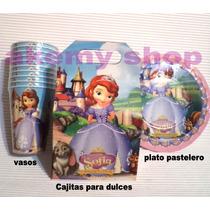 Princesa Sofia Vasos O Platos Articulos De Fiesta