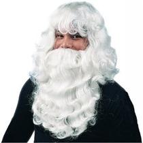 Tb Deluxe White Santa Costume Set - Adult Std.