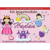 Kit Imprimible 1 Hadas Haditas Cotillon Tarjetas