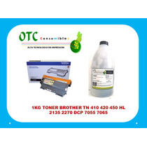 1kg Toner Brother Tn 410 420 450 Hl 2135 2270 Dcp 7055 7065