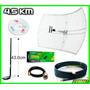 Kit 5 En 1 Antena Rejilla 4.5km Cable 6m Red Claves Internet