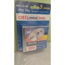 Mini Disc Regrabable 210mb 5pzs Mini Cd Rw 24 Minutos Nuevos