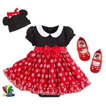 Disfraz Minnie Mimi Bebe Rojo Gorro Zapatos Disney Store